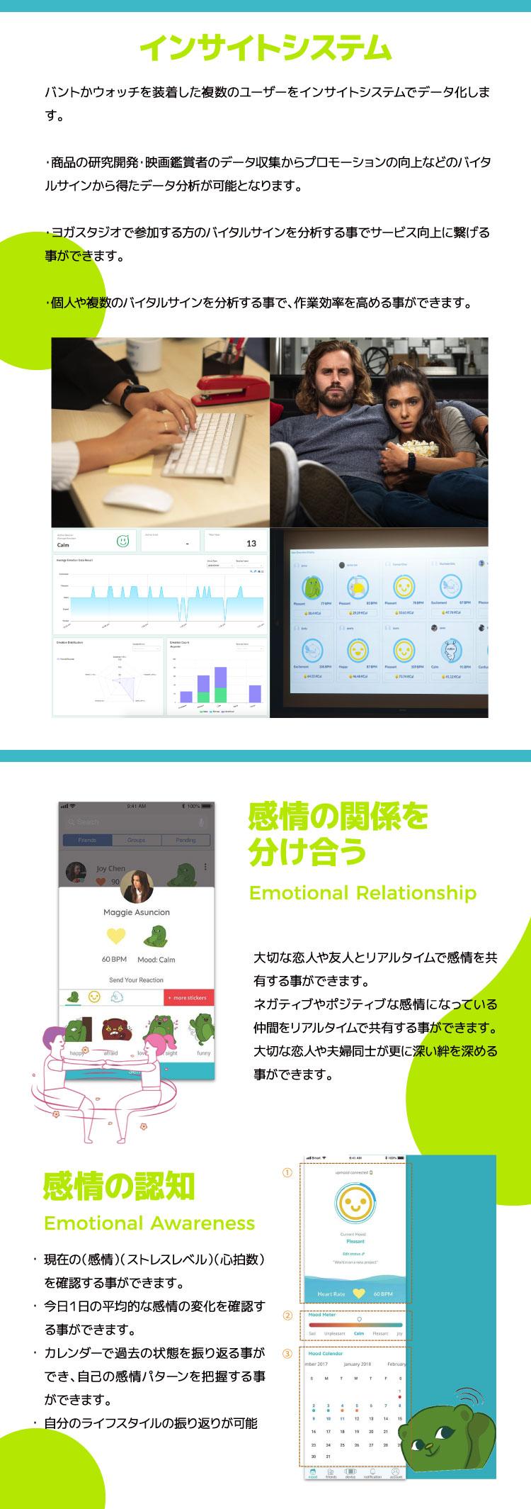 インサイトシステム / 感情の関係を分け合う / 感情の認知